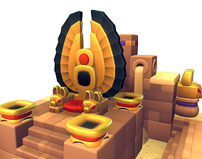 Cube World Sandstone Block - Proto Series 3D model
