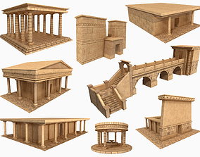 Lowpoly Ancient Temples Collection With 3D asset