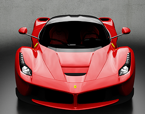 Ferrari LaFerrari 3D model low-poly