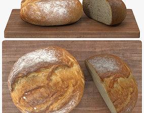 3D model low-poly Bread