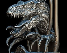 Indoraptor Jurassic world head bust statue 3D model