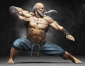 3D asset Gouken - character from the game Street Fighter