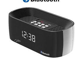 3D model Clock Radio Titanium Bluetooth Alarm
